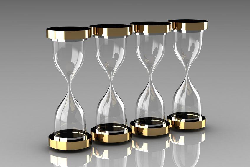 Reloj de arena el tiempo es oro