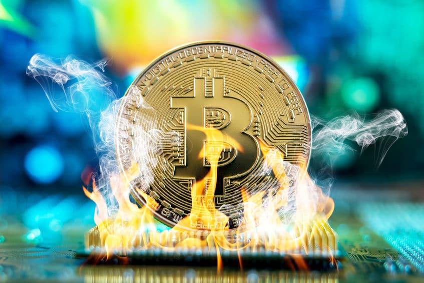 Bitcoin ardiendo volatilidad