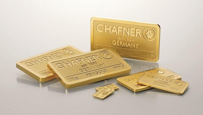 Lingotes de oro de inversión de C Hafner