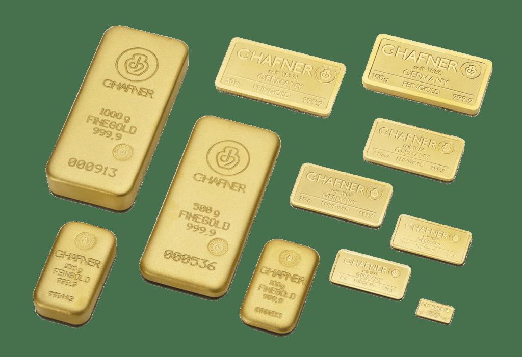 Lingotes de oro de inversion C HAFNER