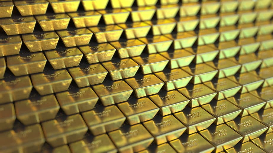 Lingotes de oro bancarizado