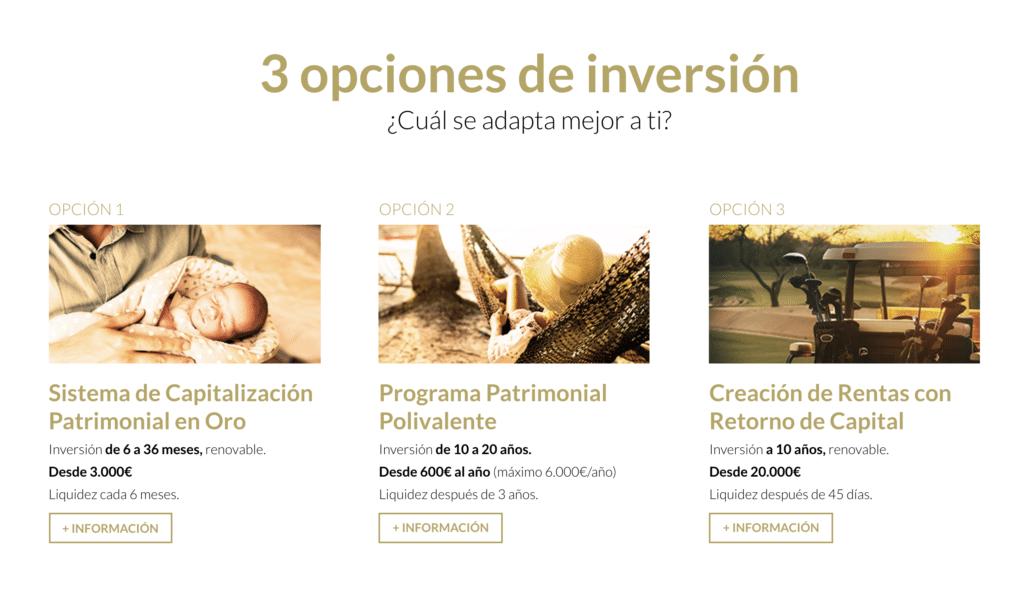 3 opciones de inversion en oro - SEMPI GOLD ESPAÑA