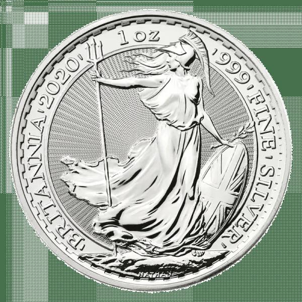 Moneda de plata Britannia 2020
