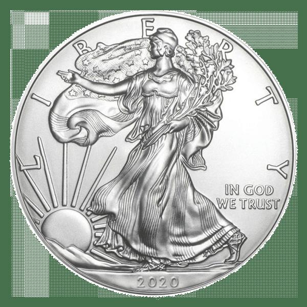 Moneda de plata American Eagle 2020
