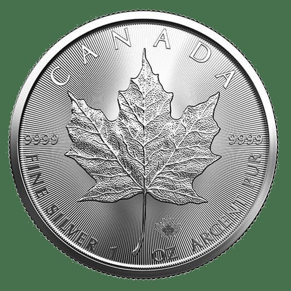 Moneda de plata Maple leaf 2020