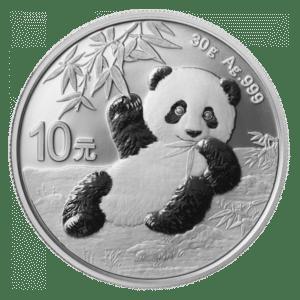 Moneda de plata Panda 2020