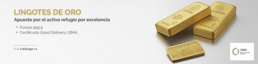 Banner Lingotes de Oro de Inversion - Mercado de la moneda