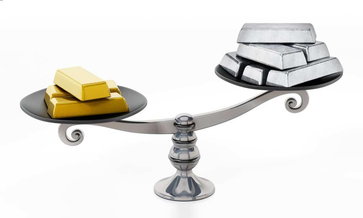 La ratio oro plata el elemento de comparacion entre los metales preciosos