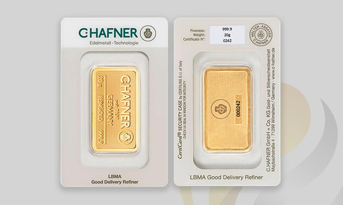 Las ventajas de los lingotes de oro en blister
