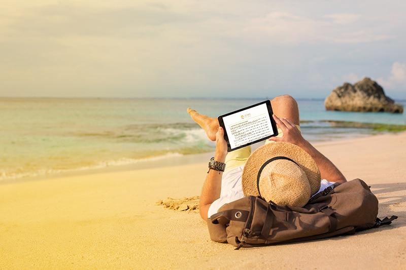 Cliente de SEMPI Gold España entrando al portal del cliente desde su tablet