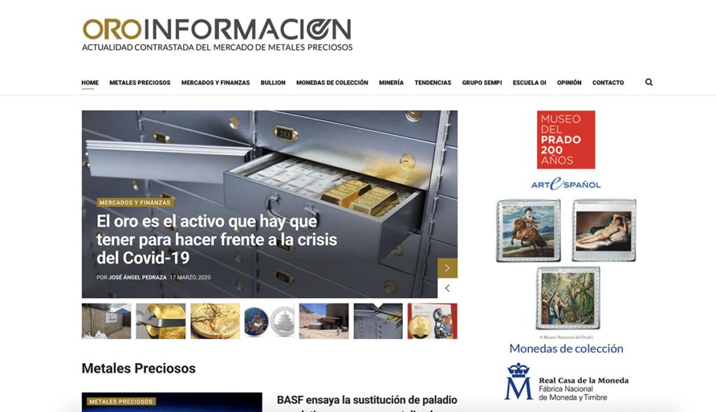 Captura portal Oroinfoamcion