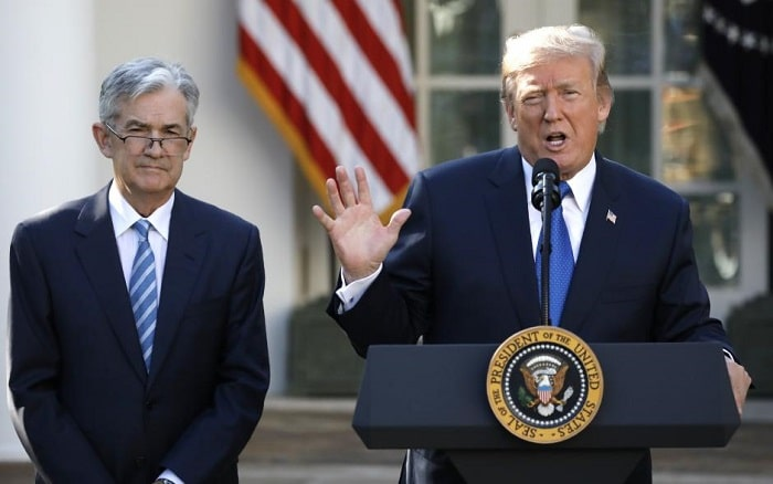 Donald Trump y Jerome Powell