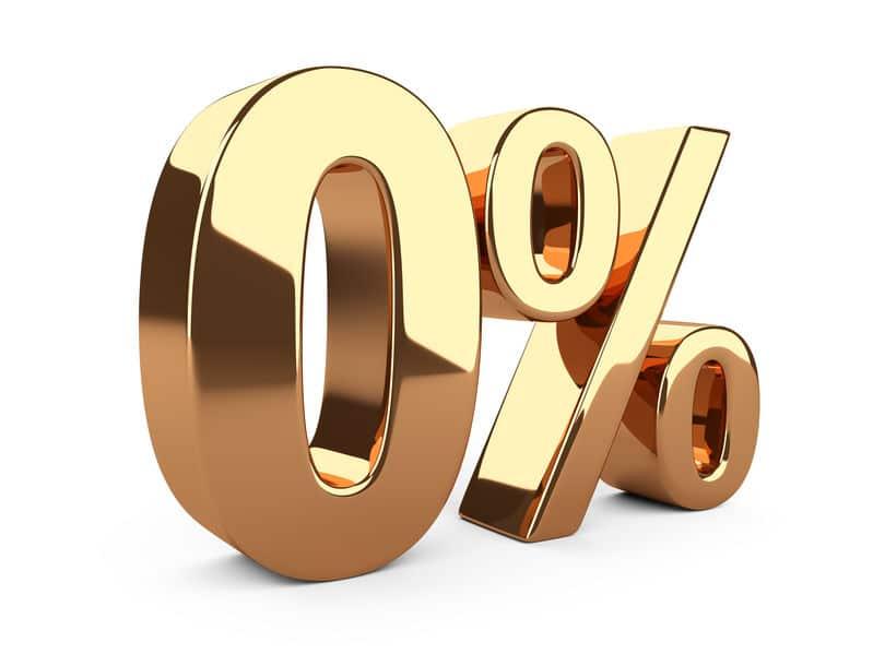 Tipos de interés al 0%