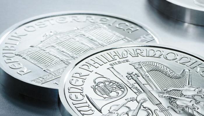 Moneda de plata filarmonica de venta en mercado de la moneda