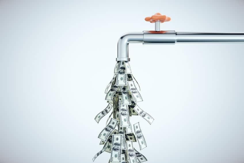Flexibilización cuantitativa. Dolares cayendo por el grifo