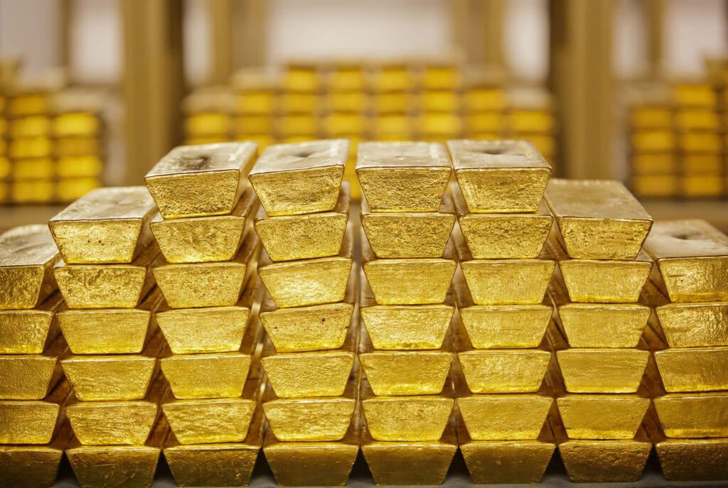 Lingotes de oro en banco central
