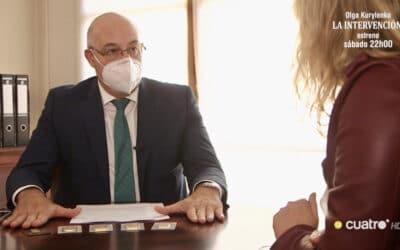 Gabriel Ruiz, presidente de SEMPI, entrevistado en el programa 'En el punto de mira', de Cuatro TV
