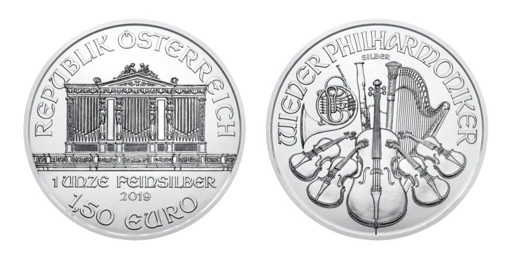 Moneda de plata Filarmonica para plan de compra sistematica de plata Argenton